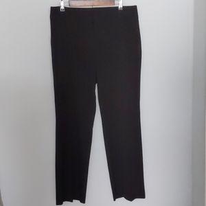 Daisy Fuentes straight leg ponte black pants